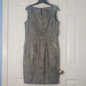 Ellen Tracy Gold/Black Dress